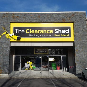 The Clearance Shed Commercial Signage