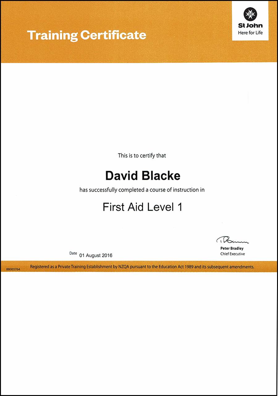 David Blacke, DB Signs First Aid