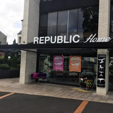 Republic Building Signage
