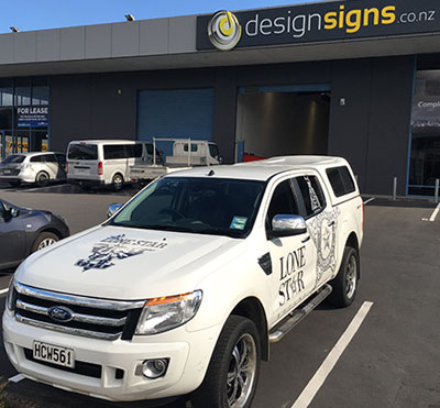 Vehicle Signage Ute